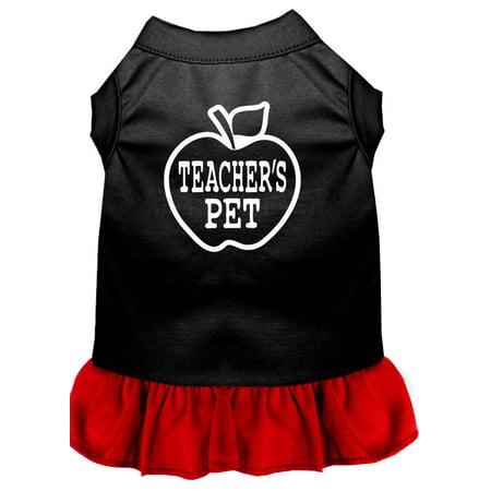 Teachers Pet Screen Print Dress Black With Red Xl (Undead Teacher's Pet Costume)