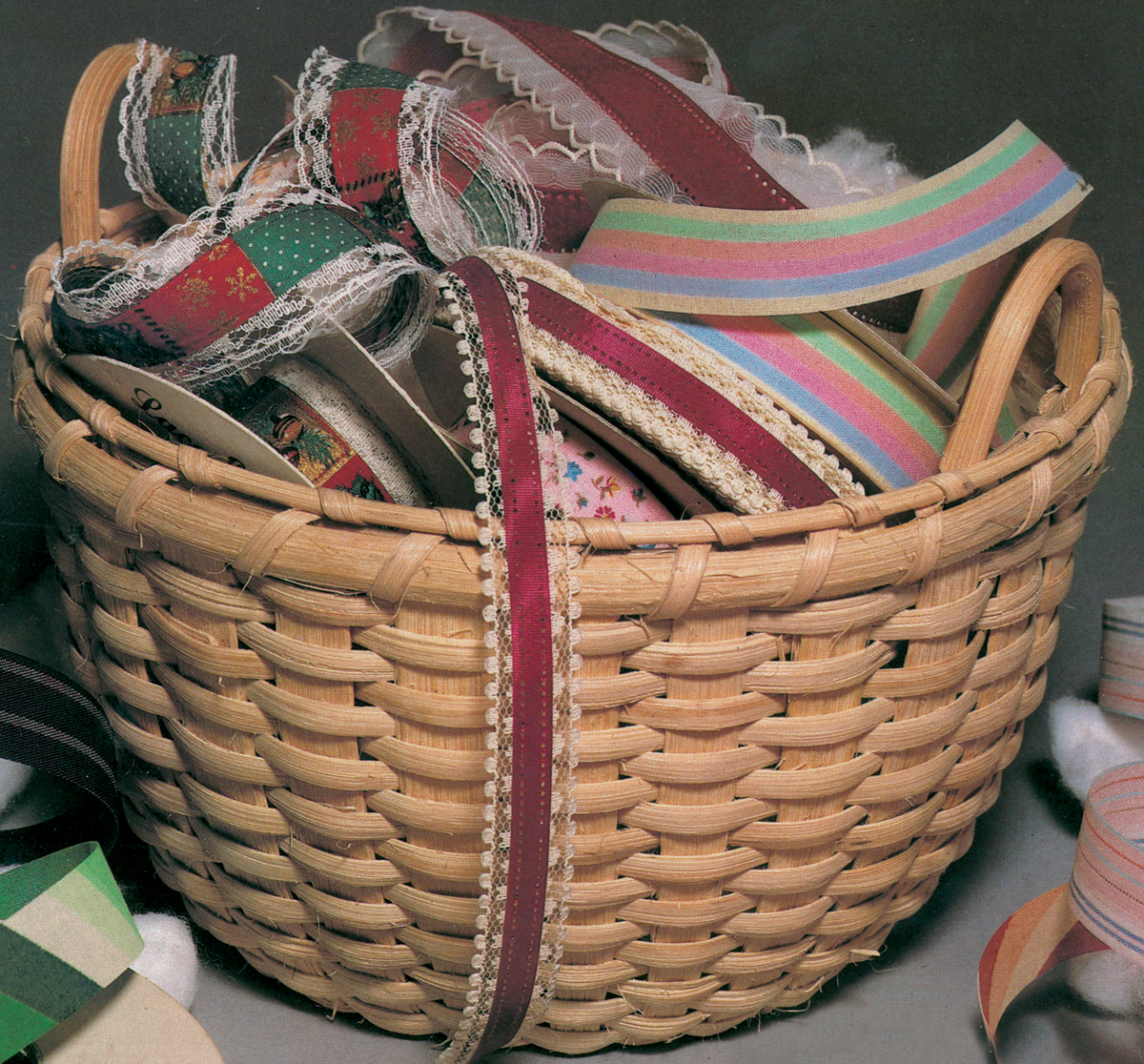 "Blue Ridge Basket Kits, Grans Cotton Basket, 9-1/2"" x 7"""