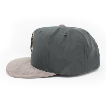 Mitchell and Ness Toronto Raptors Buttery Melange Grey Snapback Hat - image 2 of 5