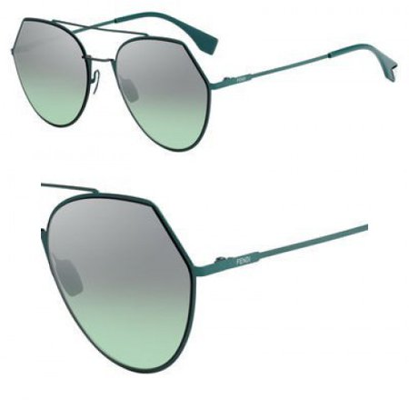 Light Mirror Lenses (Sunglasses Fendi Ff 194 /S 01ED Green / GY brown/gold mirror lens )