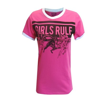 Marvel Comics Girls Rule Female Heroes Tee Shirt - Marvel Heroes Womens