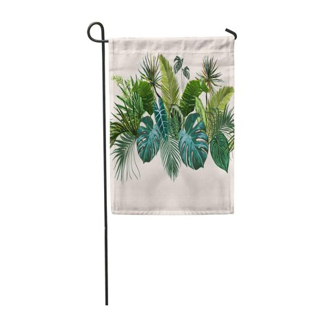 NUDECOR Green Leaf Vintage Composition with Exotic Leaves Botanical Classic Perfect for Garden Flag Decorative Flag House Banner 28x40 inch - image 1 of 1