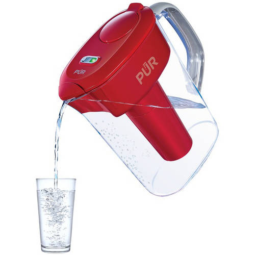 PUR Ultimate 7-Cup Pitcher with Lead Removal, Red