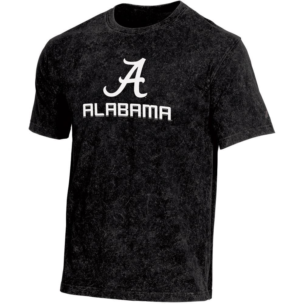 Men's Russell Black Alabama Crimson Tide Classic Fit Enzyme Wash T-Shirt
