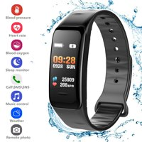 Fitness Tracker Heart Rate Monitor Watch Blood Pressure Activity Tracker Waterproof Smart Wristband for Kids Women Men, Purple