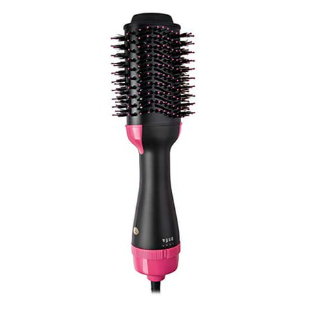 One-Step Hair Dryer & Volumizer Styler, Salon Hot Air Paddle Styling Brush Negative Ion