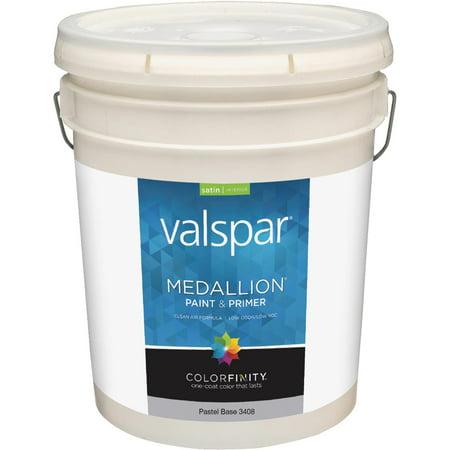 Valspar Medallion 100 Acrylic Paint Primer Satin Interior Wall Paint
