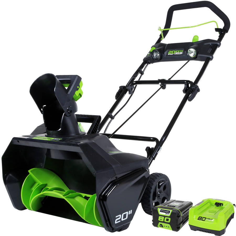 "80V 20"" Snow Thrower with 2.0 Ah Battery and Charger"