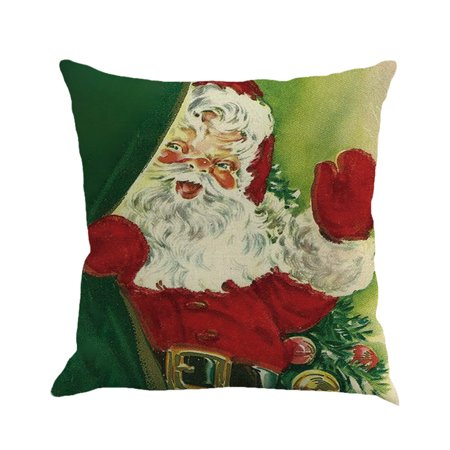 Hot Sale Merry Christmas Home Shops Sofa Bed Car Seat Dyeing Printed Square Pillow Case Decorative Cushion Cover Xmas Home Festival Decoration