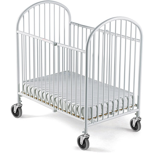 Foundations Pinnacle Portable Crib with Mattress White