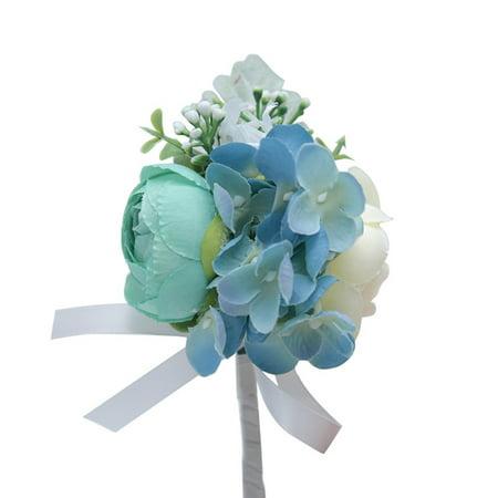 KABOER Wedding Groom Corsage Lace Silk Bracelet Bridesmaid Wrist Flower Boutonniere ()
