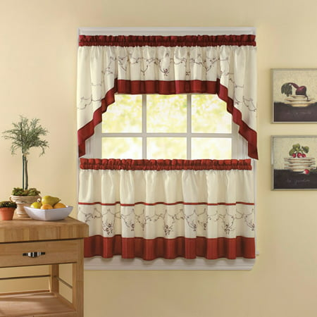 CHF & You Grace Kitchen Curtains, Set of 2 ()