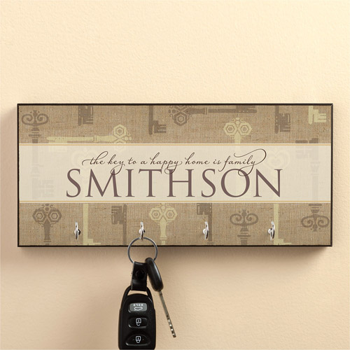 Personalized Key To A Happy Home Key Hanger