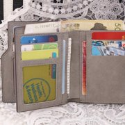 Women Mini Grind Magic Bifold Leather Wallet Card Holder Wallet Purse GY