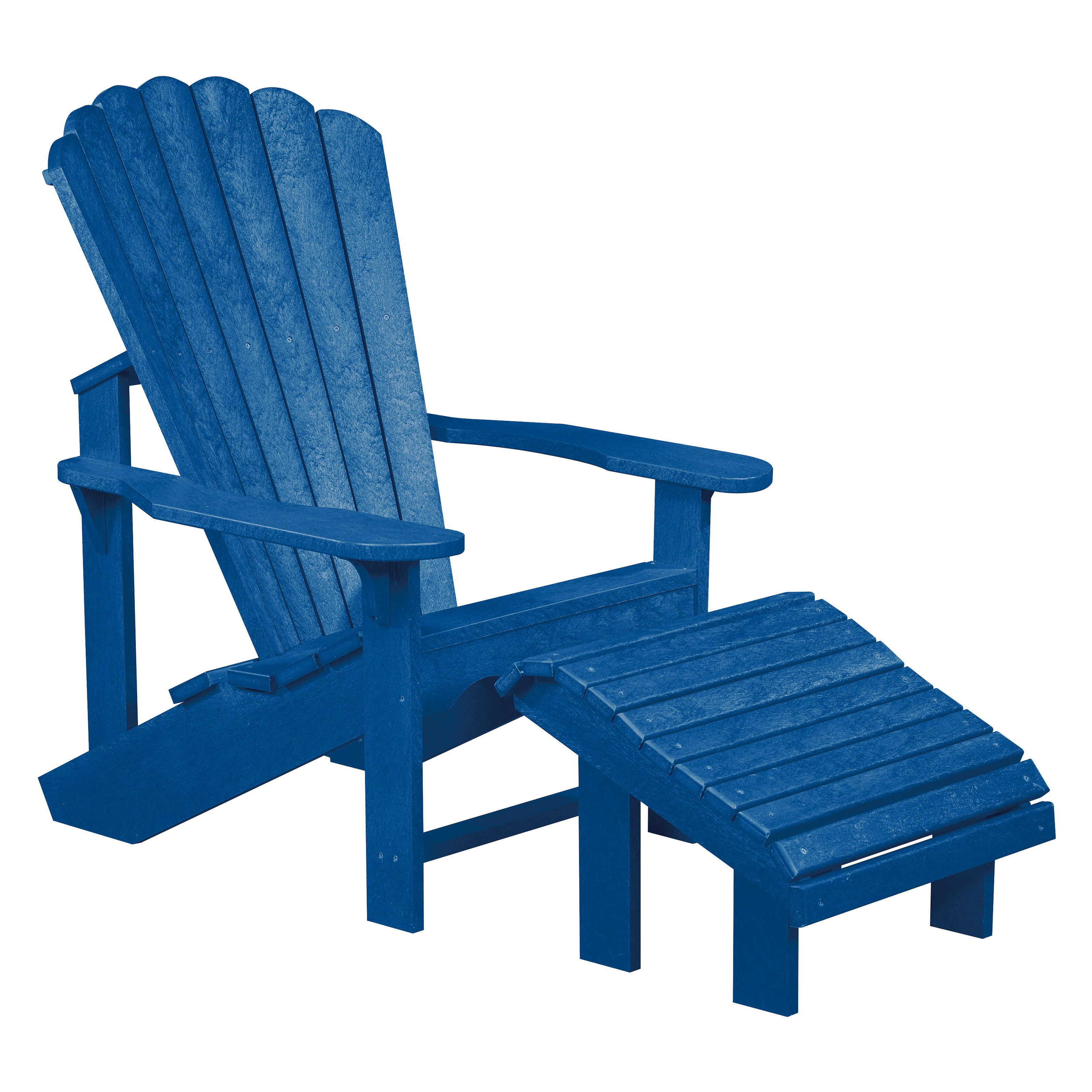 2 Piece Recycled Plastic Adirondack Chair with Footstool Set ...