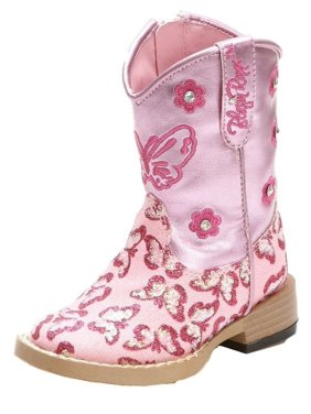 6b47005dc60d5 Product Image Blazin Roxx Western Boots Girls Pecos Cowboy Glitter Zip Pink  4451030