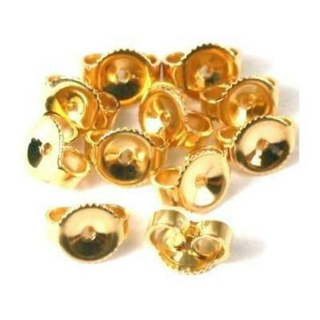 12 14K Gold Filled Earring Backs Yellow Stud Nut Part 14k Gold Filled Stud