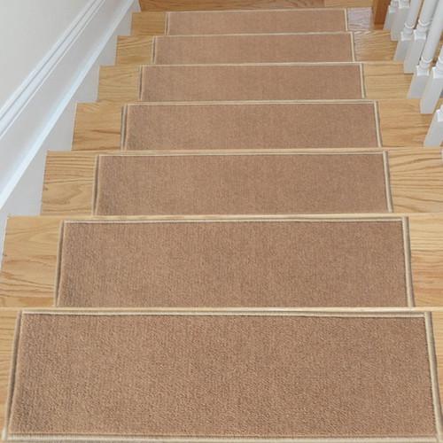 ottomanson dark beige stair tread set of 7 - Stair Tread
