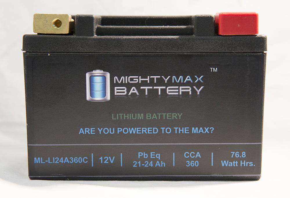 LiFePO4 12V 20-24ah Battery for Ski-Doo 600 Tundra, MX Z 2004 2012 by Mighty Max Battery