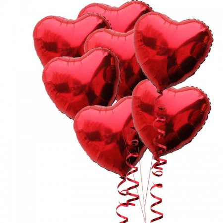 18 inch Red Love Heart Foil Mylar Balloons Valentines Day Sweetheart Helium Balloons 50 Pack Mylar Blues Clues Helium Balloon