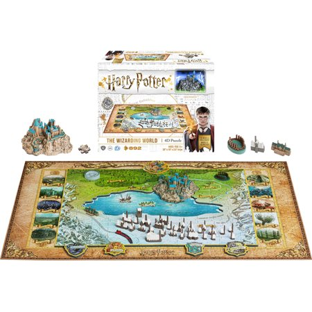 Harry Potter The Wizarding World 4D Puzzle with 3 Layers & 892 Pieces 5 Piece Wizard
