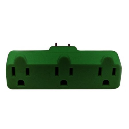 Triple Tag - Stanley Heavy-Duty Triple Tap 3-Grounded Outlet Indoor Wall Adapter