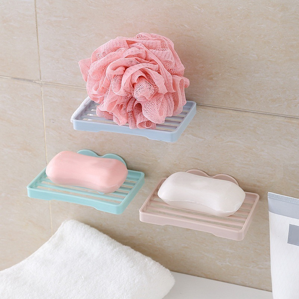 Moderna Draining Soap Dish Creative Bathroom Heart Wall Hanging Hollow Soapbox Holder