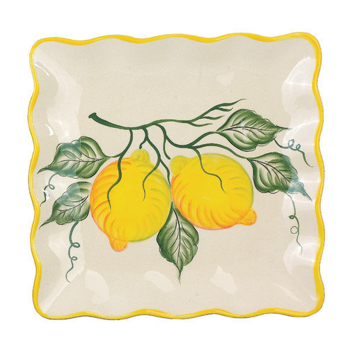 Lorren Home Trends Lemon Square Platter