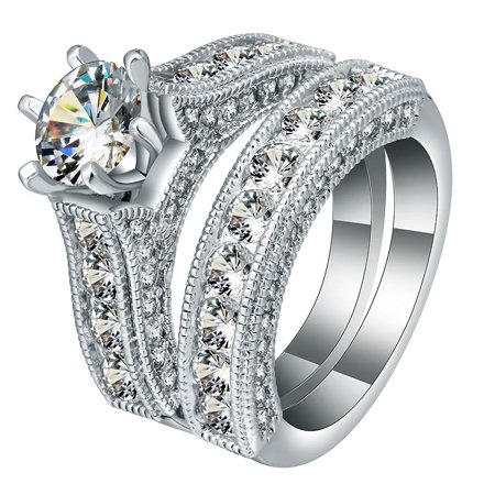 Gorgeous Wedding Rings - Ginger Lyne Collection Melody Gorgeous Wedding Ring Set