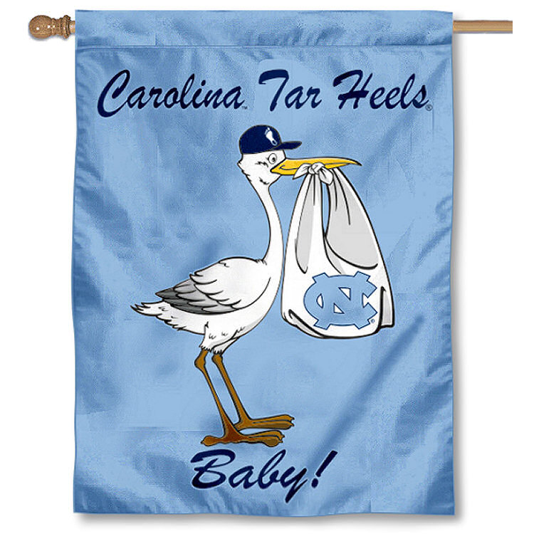 North Carolina Tar Heels New Baby Banner