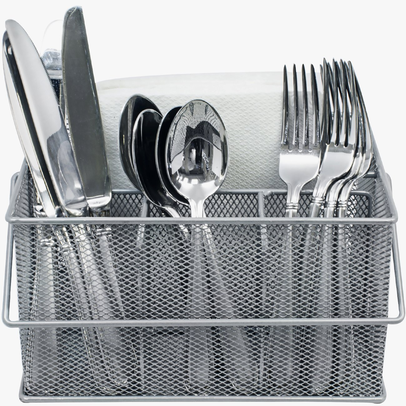 Utensil Caddy \u201aÄî Silverware Napkin Holder and Condiment Organizer \u201aÄî Multi-  sc 1 st  Walmart & Utensil Caddy \u201aÄî Silverware Napkin Holder and Condiment Organizer ...