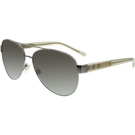 Burberry Men's Gradient BE3084-10038G-57 Silver Oval (Burberry Men Sunglasses)