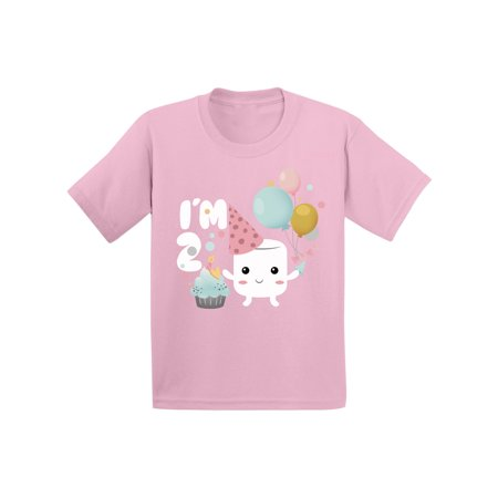 Awkward Styles Marshmallow Gift for Kids Themed Party Kids Birthday I am Two Shirt Kids Party Gifts for 2 Years Old Toddler T Shirt 2nd Birthday Shirt Gifts for Boy Girl Shirts for Toddler