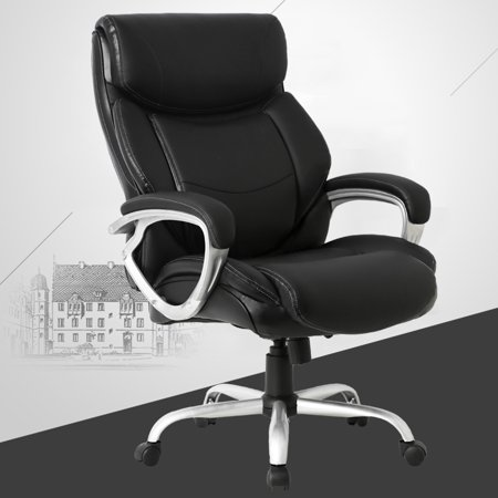 Fabulous High Back Big And Tall Office Chair 400Lbs Ergonomic Pu Leather Desk Chairs Adjustable Rolling Swivel Executive Chair With Lumbar Support Headrest Caraccident5 Cool Chair Designs And Ideas Caraccident5Info