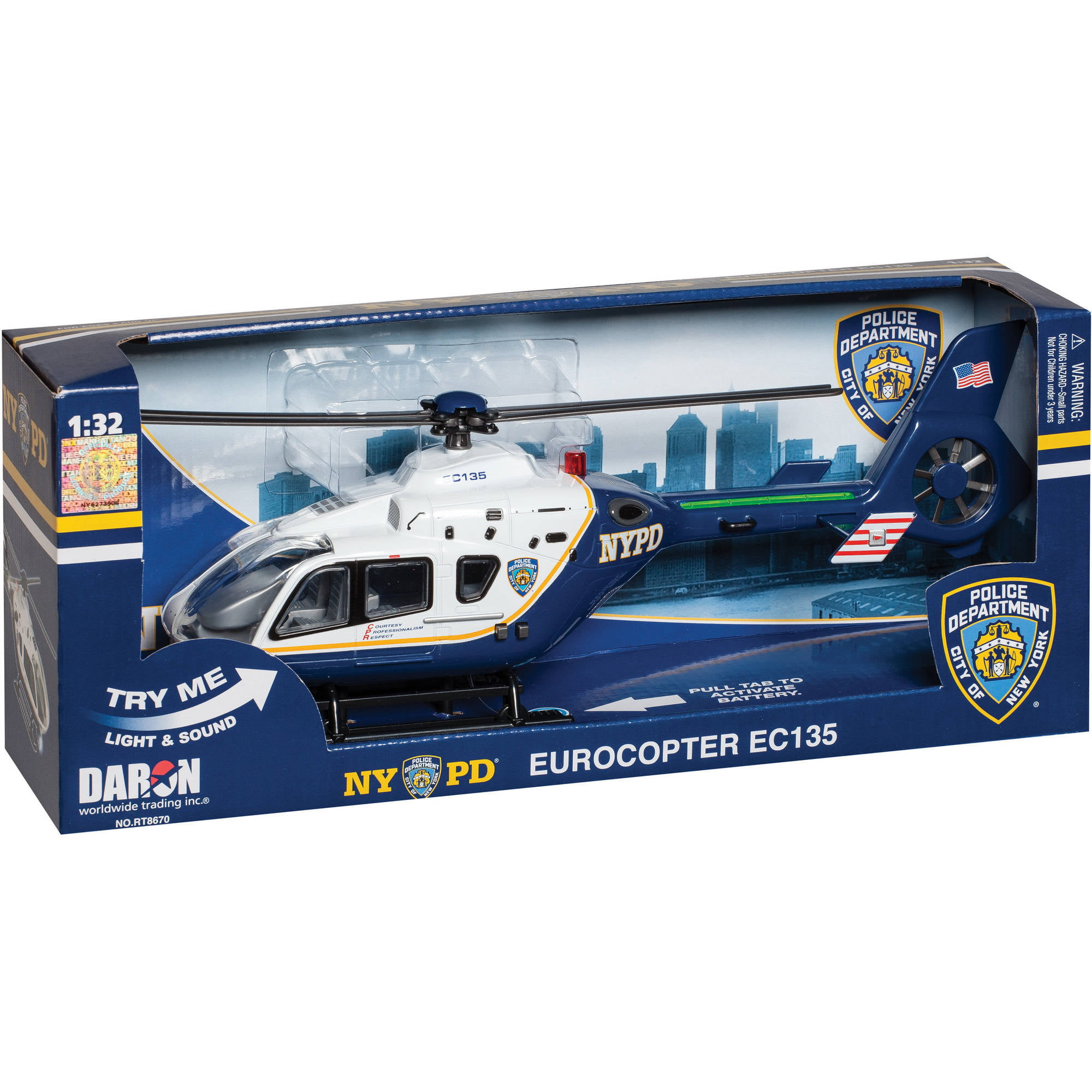 Daron Police Department City of New York Helicopter with Lights and Sound (NYPD) by Daron