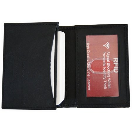 31c2424dae2e RFID Blocking Improving Lifestyles Mens LeatherExpandable Business Card  Case Wallet Bifold Credit Card Black FreeOrganza