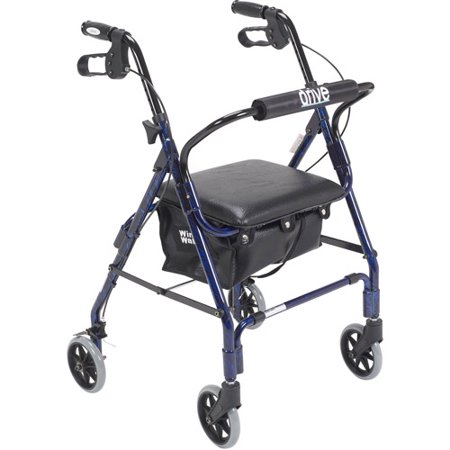 Drive Medical Mimi Lite Walker Rollator  Flame Blue