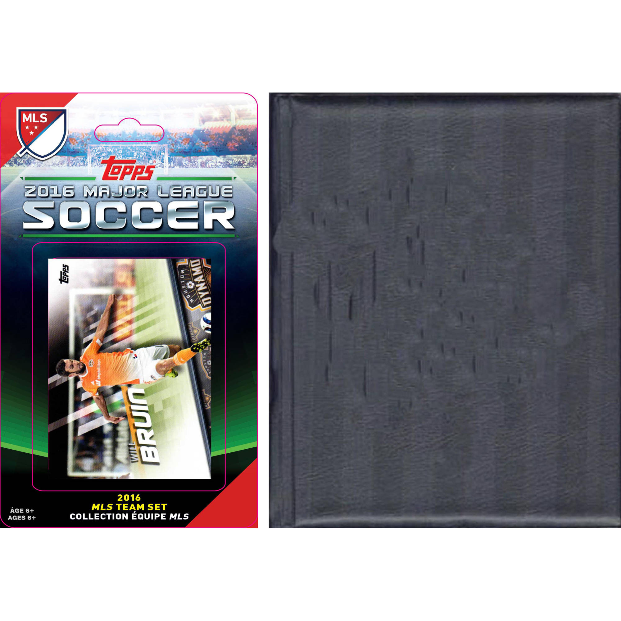C&I Collectables MLS Houston Dynamo Licensed 2016 Topps Team Set and Storage Album