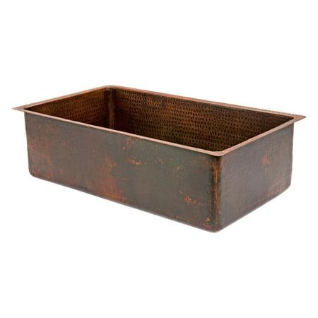 Premier Copper Products KSDB30199 Single Basin Drop In/Undermount Sink