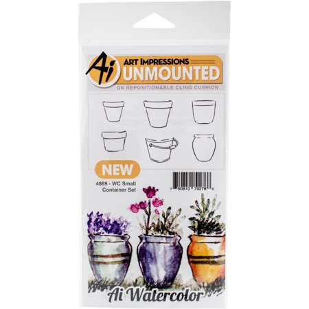 - Art Impressions Watercolor Cling Rubber Stamps, 4