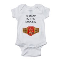 """Official WWE Authentic  """"Champ in The Making"""" Unisex Onesie Creeper Multi Large"""