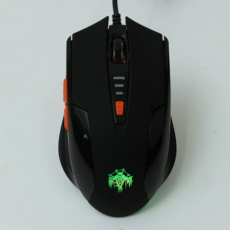 1PC Cool LED USB wired mouse Light Mice USB Wired Optical Scroll Wheel 6 Button Office Mouse For Computer Laptop