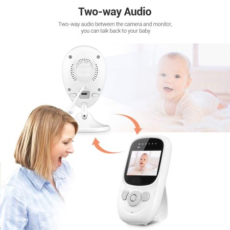 Barbala Wireless Video Baby Monitor with 2.4 inch LCD Color Screen,Digital Camera,Temperature Monitoring, Lullaby,Infrared Night Vision, Two-Way Talk, Long Range and High Capacity Battery - image 1 of 7