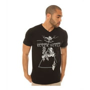Black Scale Mens The Ninth Gate V Neck Graphic T-Shirt, black, Small