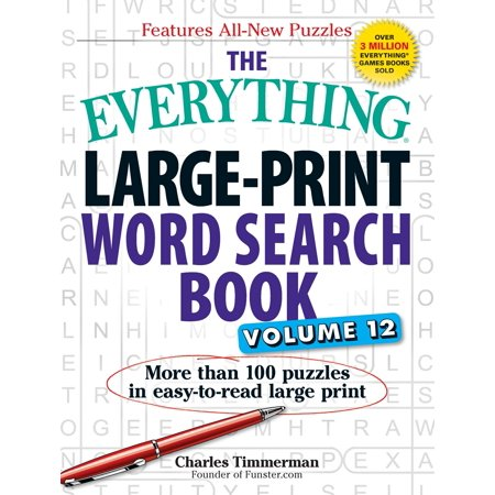 The Everything Large-Print Word Search Book, Volume 12 : More than 100 puzzles in easy-to-read large print](Halloween Word Search Large Print)