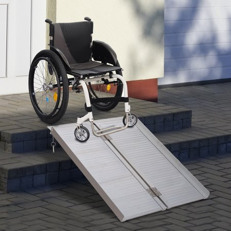 3' Wheelchair Ramp Foldable Portable Scooter Mobility Easy Access Carrier Ramp with Carrying Handle Aluminum Alloy - image 6 of 7