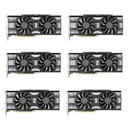 6 Packs of EVGA GeForce GTX 1070 SC GAMING ACX 3 0 Black Edition, 8GB  GDDR5, LED, DX12 OSD Support (PXOC) 08G-P4-5173-KR