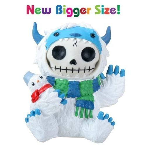 3.5 Inch Furry Bones White and Blue Yeti Halloween Costume Figurine