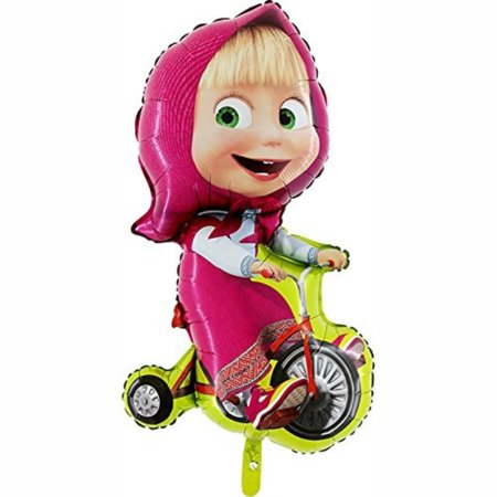 Masha Biking Foil Balloon by Masha and the Bear (Masha And The Bear Halloween Costume)