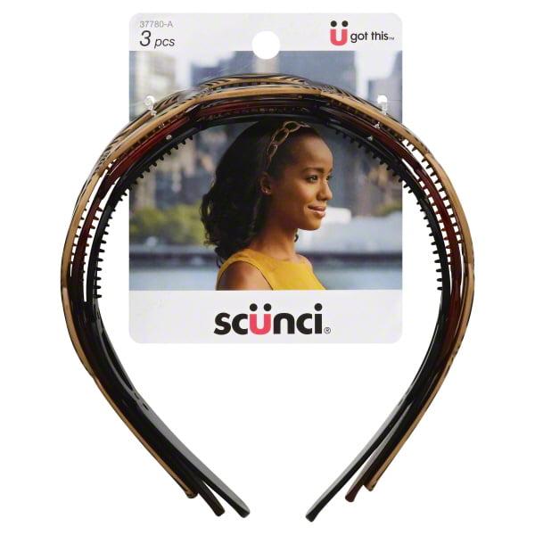 Scunci Effortless Beauty: Headbands, 3 ct